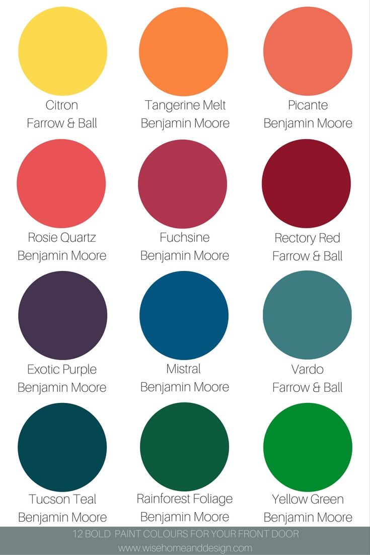 12 Bold Paint Colours-Updated
