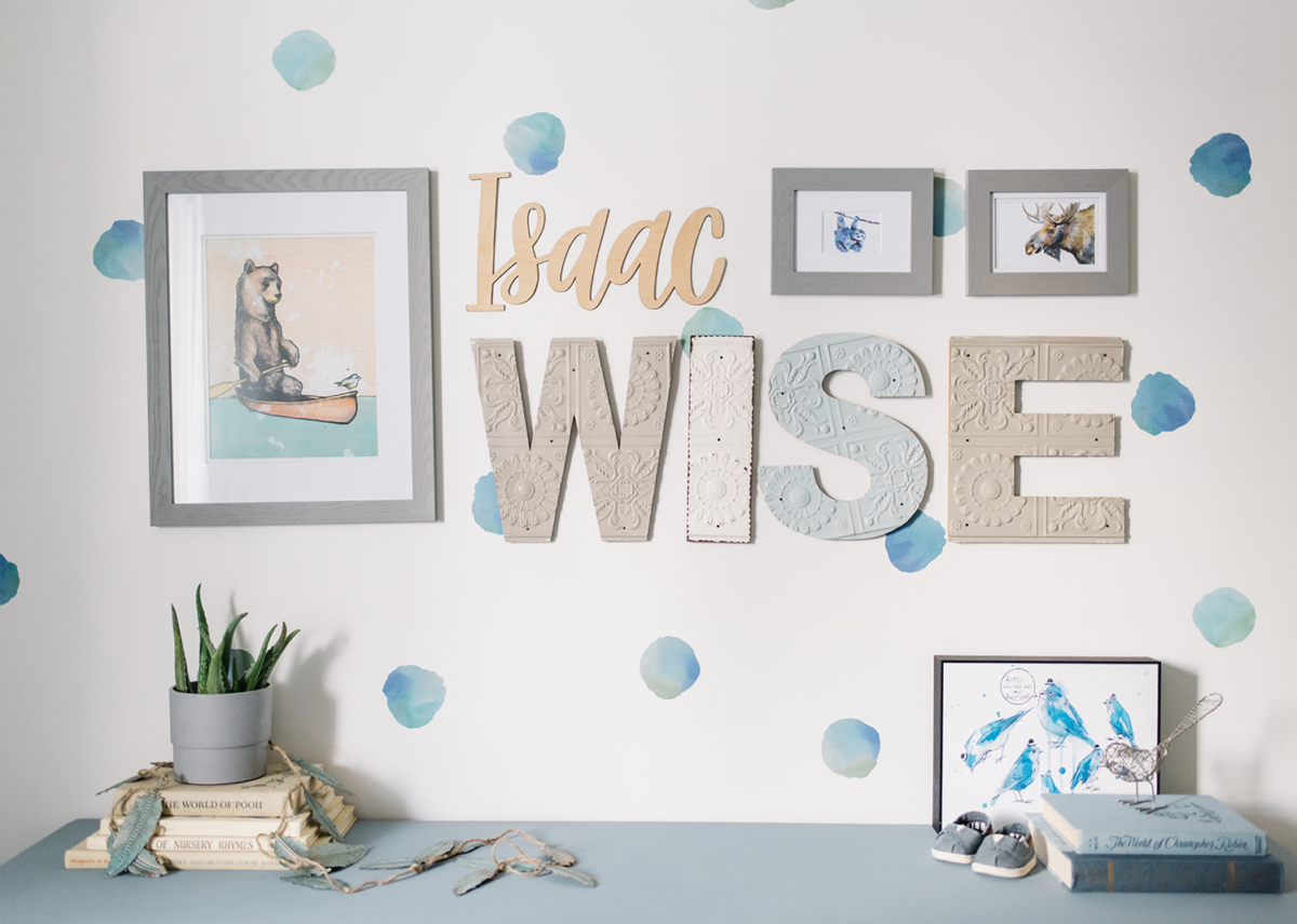 Modern Nursery | Watercolour Whimsy; Design | Wise Home + Design; Photo | Tracey Jazmin Photography