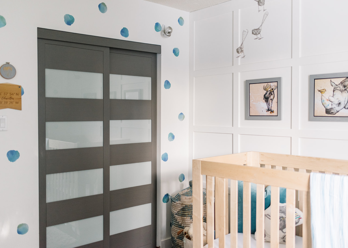 Modern Nursery | Watercolour Whimsy;  Design | Wise Home + Design; Photos | Tracey Jazmin Photography
